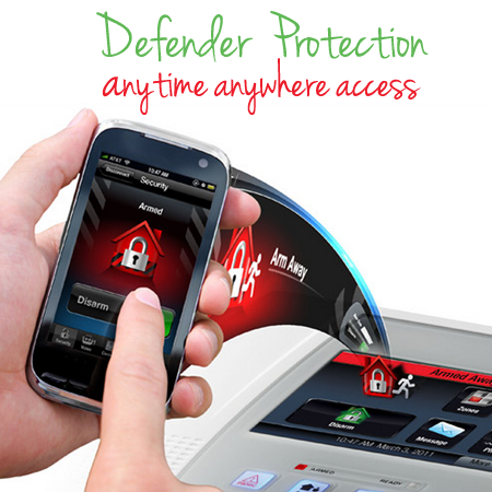 Defender Protection Security Alarms with Anytime Anywhere Access